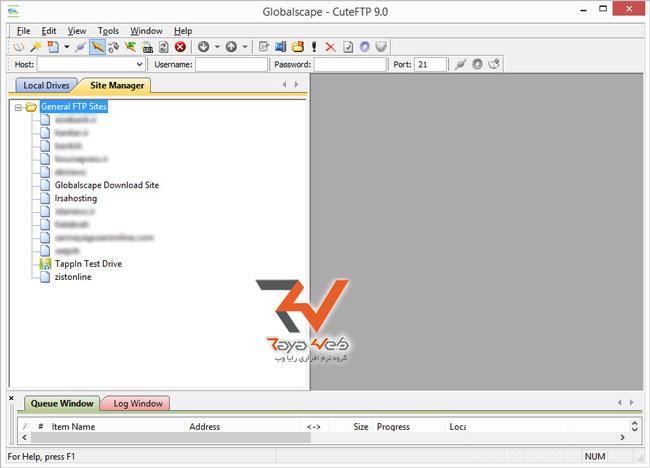 آموزش کار با نرم افزار CuteFTP
